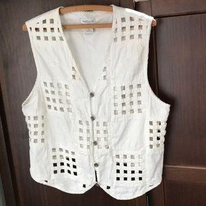 White Cut-outs Vest